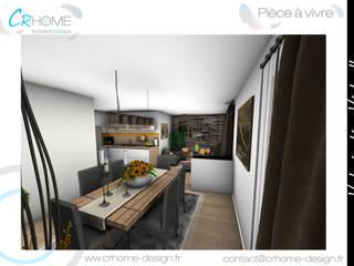 Valorisation Virtuelle - Réunion de 2 appartements en 1: Salle à manger de style  par Crhome Design