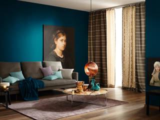 Trendfarbe Deep:  Wohnzimmer von SCHÖNER WOHNEN-FARBE