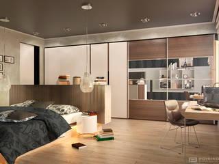 Bedroom: Спальни в . Автор – Дмитрий Каючкин, Модерн