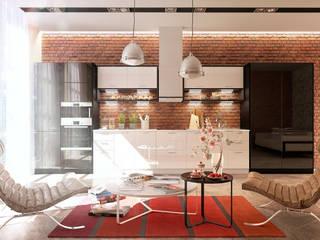 kitchen_loft: Кухни в . Автор – Дмитрий Каючкин, Лофт