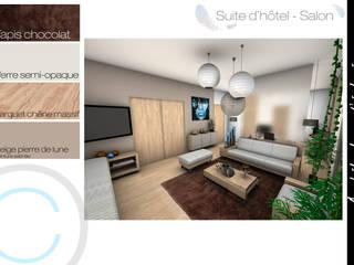 Architecture d'intérieur - Chambre d'hôtel : Chambre de style  par Crhome Design