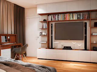 Dormitorios de estilo  de Tatiana Zaitseva Design Studio, Moderno