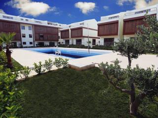 Nowoczesny basen od asis mimarlık peyzaj inşaat a.ş. Nowoczesny