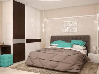 Dormitorios de estilo  de Tatiana Zaitseva Design Studio, Minimalista