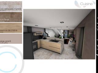 Rénovation - Réunion de 2 maisons: Cuisine de style  par Crhome Design