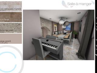 Rénovation - Réunion de 2 maisons: Salle à manger de style  par Crhome Design