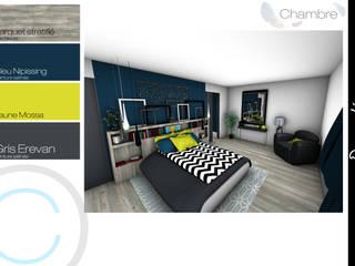 Architecture d'intérieur - Suite parentale: Chambre de style  par Crhome Design