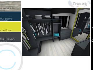 Architecture d'intérieur - Suite parentale: Dressing de style  par Crhome Design