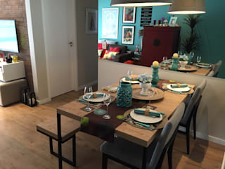 Reforma de Apartamento em São Bernardo: Salas de jantar  por Vitor Dias Arquitetura,