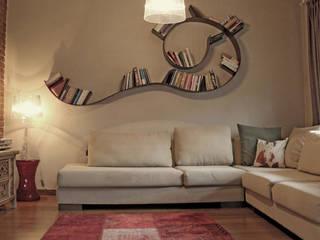Didem & Serkan Ozbakan Modern Oturma Odası Bilgece Tasarım Modern