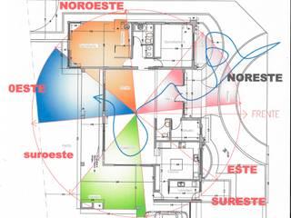 Vivienda Barrio Santina, Valle Escondido Còrdoba Capital:  de estilo  por Estudio de Arquitectura y Diseño Feng Shui