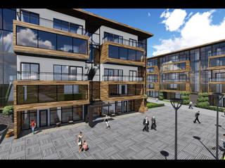 Ofis K Mimarlık ve Tasarım – oK-Mimari N..Ç..: modern tarz Evler