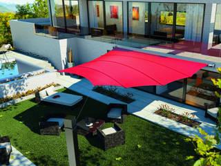 Balcones, porches y terrazas de estilo  por derraumhoch3