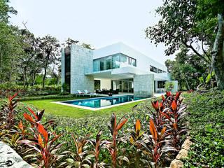 Casa entre Arboles: Jardines de estilo moderno por Enrique Cabrera Arquitecto