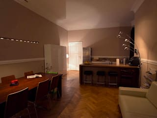 Esszimmer & Küche vor der Lichtgestaltung:  Esszimmer von jack be nimble  - lighting | design | innovation
