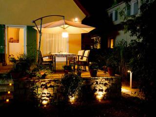 Terrassenbeleuchtung:  Terrasse von jack be nimble  - lighting | design | innovation