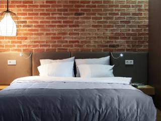 Lugerin Architects Scandinavian style bedroom Bricks