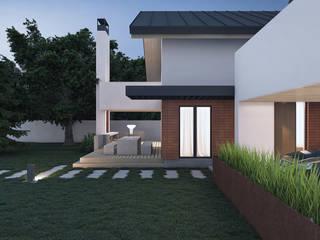 Lugerin Architects Minimalist house Bricks White