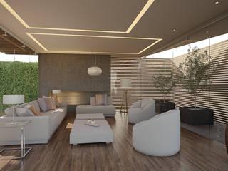 Wohnzimmer von 21arquitectos