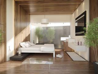 minimalistische Slaapkamer door 21arquitectos
