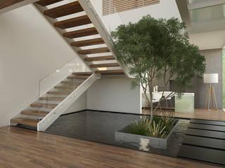 Corredores, halls e escadas minimalistas por 21arquitectos Minimalista
