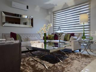 Sala de Estudio Casa GL: Salas de estilo  por VICTORIA PLASENCIA INTERIORISMO