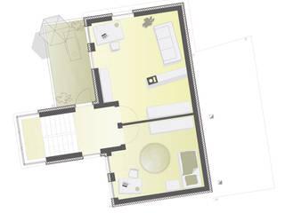 Grundriss Dachgeschoss:  Terrasse von Architekturbüro Martin Raffelt