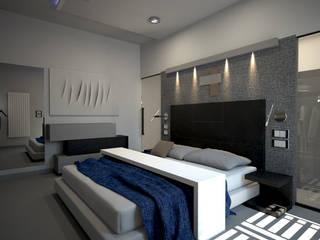 CASA E - CASA MONOFAMILIARE: Camera da letto in stile in stile Minimalista di diparmaespositoarchitetti