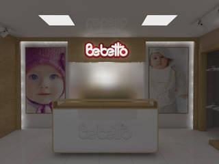 SEFA ÇAPRAZ MİMARLIK İNŞAAT – Bebetto - Showroom:  tarz Ofisler ve Mağazalar