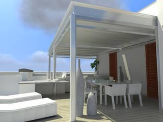 veranda ATTICO:  in stile  di Cagis