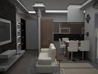 Salon de style  par diparmaespositoarchitetti, Minimaliste