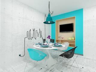 Дизайн студия Марины Геба Industrial style kitchen