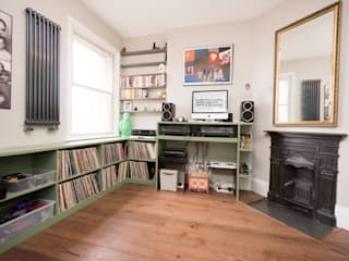 DJ Desk & Vinyl Storage:   by West London Carpentry & Decoration