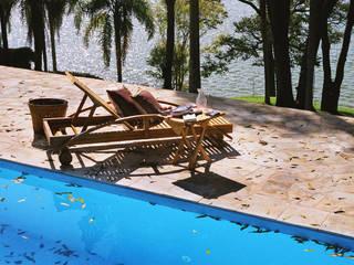 Célia Orlandi por Ato em Arte Country style pool Sandstone Blue