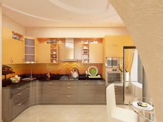 Витражное солнцеЕ Кухня в стиле минимализм от Дизайн студия Марины Геба Минимализм