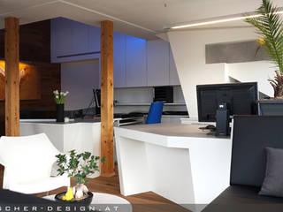 Büro - Dachausbau, Österreich: ausgefallene Arbeitszimmer von pötscher-design gmbh