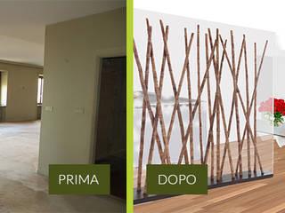 Rendering Photoshop Ingresso, Corridoio & Scale in stile moderno di CA'MI design Moderno