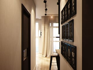 Modern corridor, hallway & stairs by Marina Sarkisyan Modern