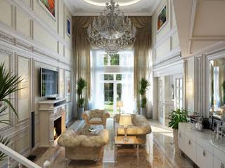 Проект 031: интерьер частного дома: Гостиная в . Автор – студия визуализации и дизайна интерьера '3dm2', Классический