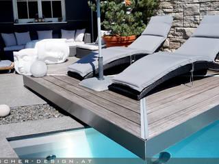 Gartengestaltung mit Edelstahlpool:  Garten von pötscher-design gmbh