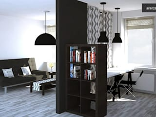 Modern living room by kreARTywni_ studio projektowe Modern