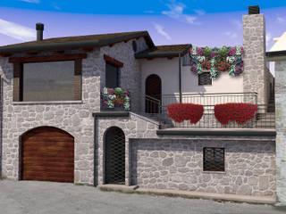 ristrutturazione... in stile: Case in stile in stile Rustico di Sferica3D