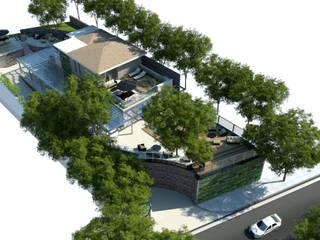 Retrofit VMZ Jardins rústicos por Paula Werneck Arquitetura Rústico
