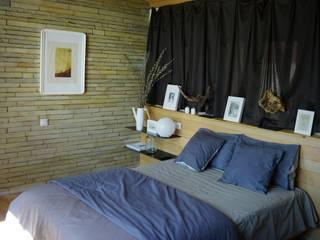 Проект базы отдыха на Дону: Спальни в . Автор – Архитектурная студия Чадо