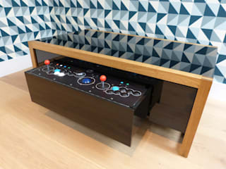 Nucleus arcade table in oak finish:   by surface tension