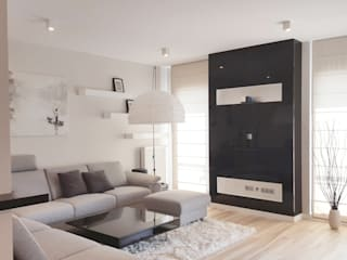 Spokojny apartament na Pańskiej w Warszawie: styl , w kategorii Salon zaprojektowany przez Project Art Joanna Grudzińska-Lipowska