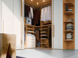 Built in Hinged Door Corner Wardrobe Bravo London Ltd Modern style bedroom