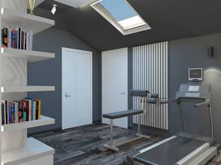 Мансарда 0024 Тренажерный зал в стиле минимализм от Архитектурная мастерская 'SOWA' Минимализм
