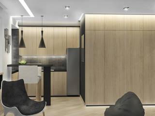 Мужская студия Кухня в стиле минимализм от Архитектурная мастерская 'SOWA' Минимализм