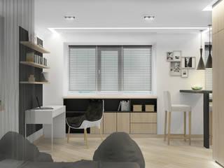 Мужская студия Рабочий кабинет в стиле минимализм от Архитектурная мастерская 'SOWA' Минимализм